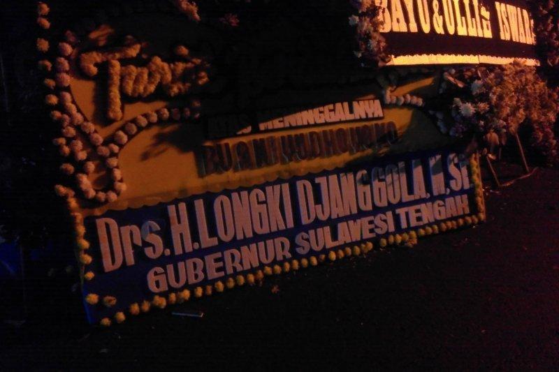 Gubernur Longki Djanggola sampaikan belasungkawa wafatnya Ani Yudhoyono