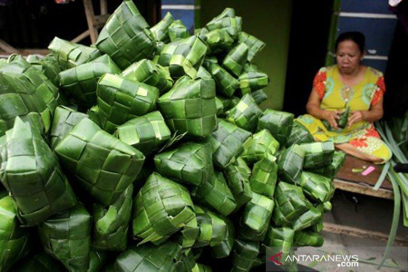Kulit ketupat berbahan daun pandan