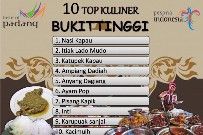 Ada 10 pilihan kuliner unggulan di Bukittinggi