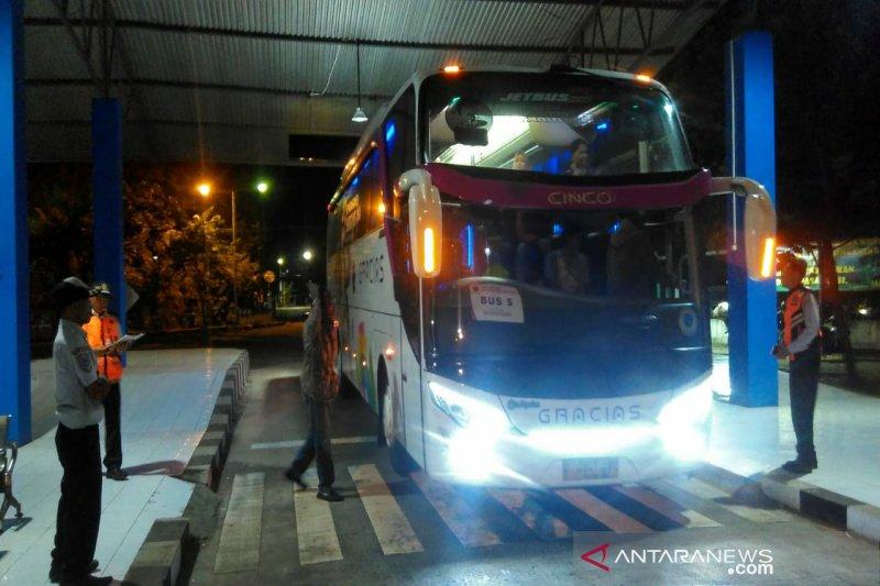 Ratusan bus pembawa perantau telah tiba di Gunung Kidul