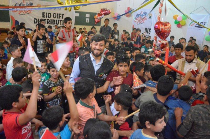 ACT rayakan Idul Fitri bersama anak yatim Suriah