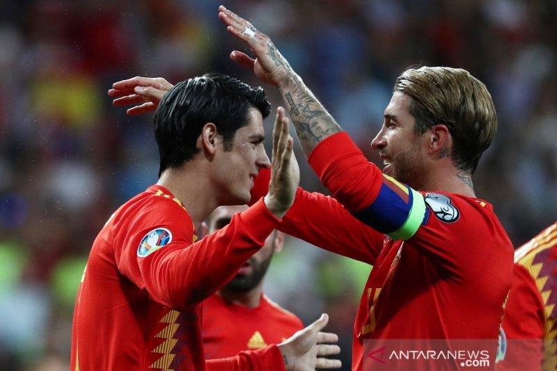 Spanyol, Norwegia dan Rumania taklukkan lawannya tanpa balas di Grup F