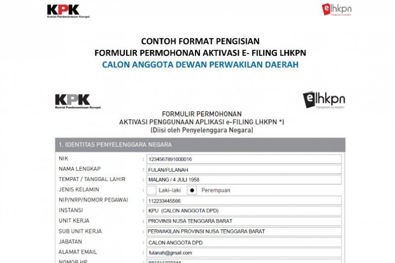 Caleg parpol Biak Numfor wajib serahkan bukti LHKPN dari KPK