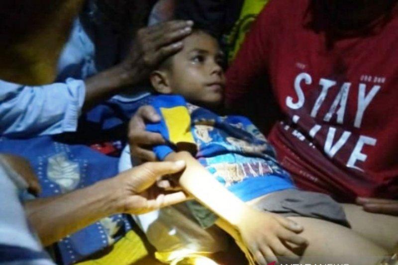 Bocah hilang di Nagan Raya ditemukan di sawah