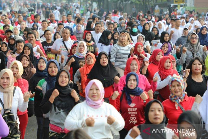 Deklarasi tolak kerusuhan terkait sidang Pilpres dihadiri ribuan warga Bogor