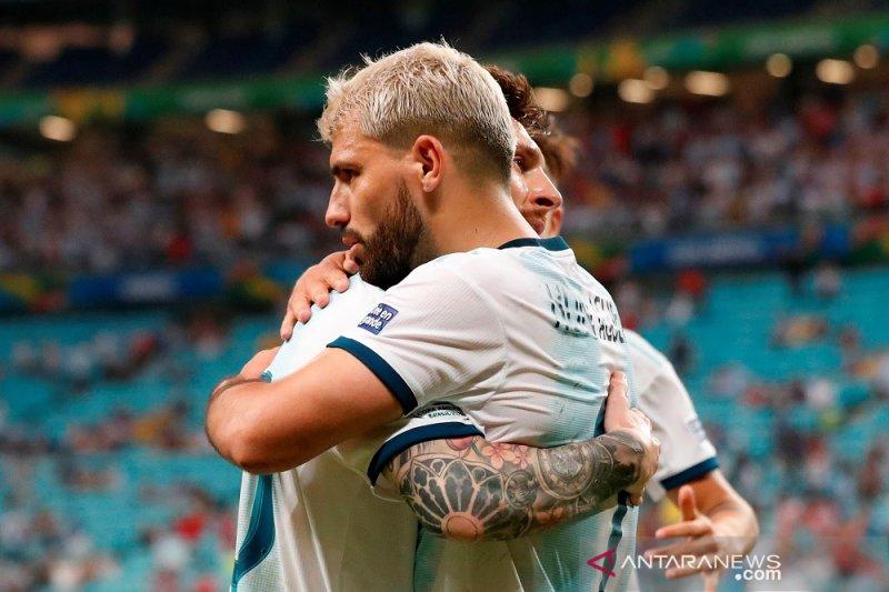 Pertandingan  babak gugur membuat Argentina semakin kuat