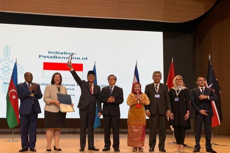 petabencana.id  BNPB mendapat penghargaan dari PBB