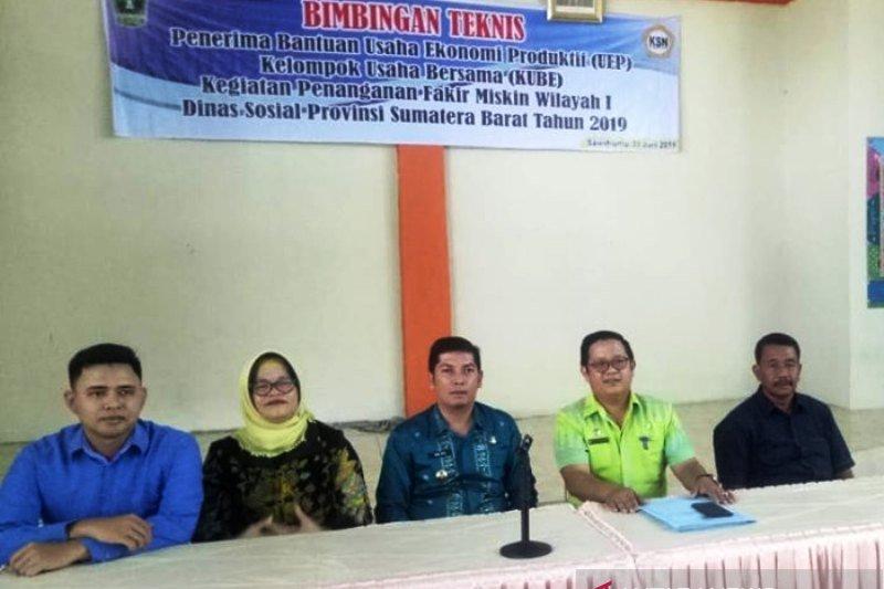 50 KUBE di Sawahlunto terima bantuan usaha ekonomi produktif dari Kemensos