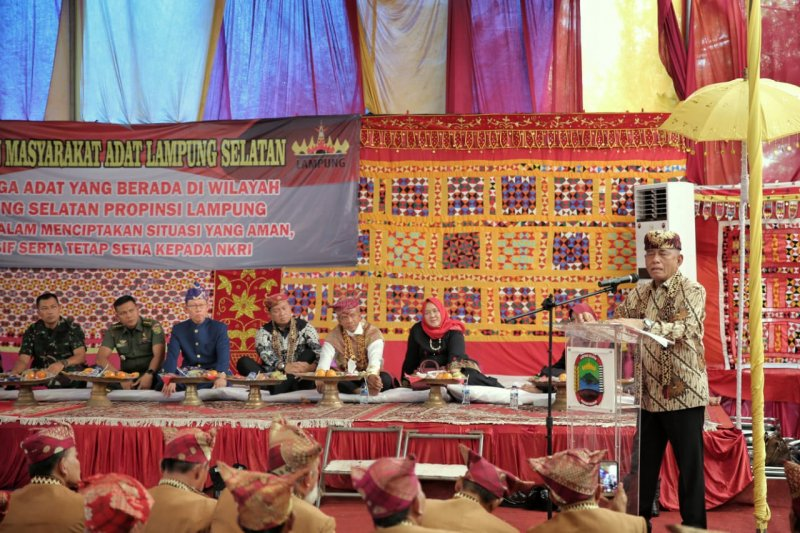 Ryamizard ajak masyarakat Lampung Jaga keberagaman dalam bingkai persatuan dan kesatuan