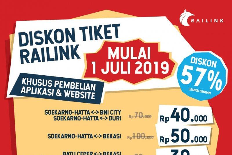 KA Bandara Soekarno-Hatta beri diskon hingga 57 persen