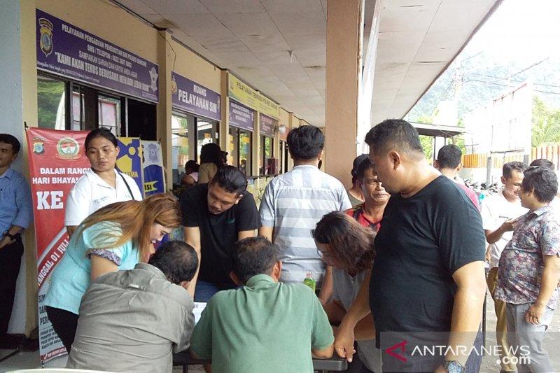 Ratusan pendaftar SIM gratis di  Polres Sangihe tidak lulus tes