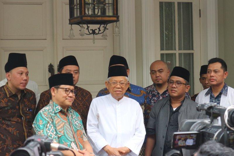 Ma'ruf Amin: Jumlah menteri dari partai politik akan disesuaikan