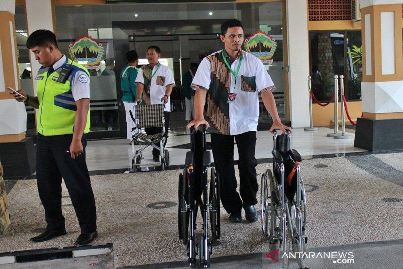 Jumlah calhaj pengguna kursi roda di Embarkasi Surakarta meningkat 100 persen