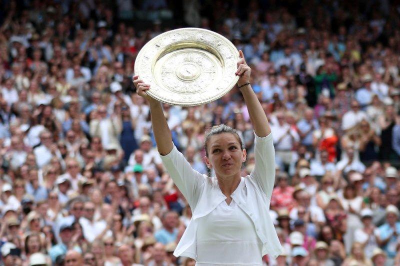 "Halep ""gembira""  karena status juara berlaku dua tahun setelah Wimbledon batal"
