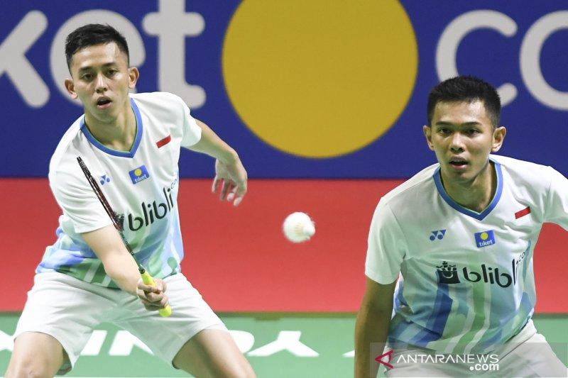 Fajar/Rian terhenti di perempat final Indonesia Open