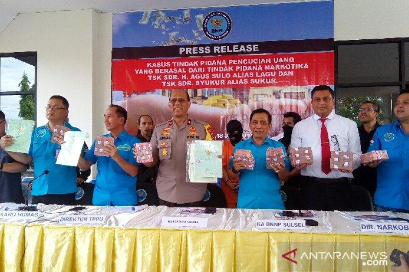BNN ungkap TPPU narkoba di Sulsel Rp16 miliar