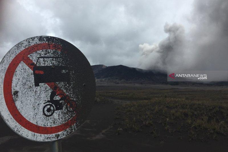 Abu vulkanik Gunung Bromo mengarah ke Malang