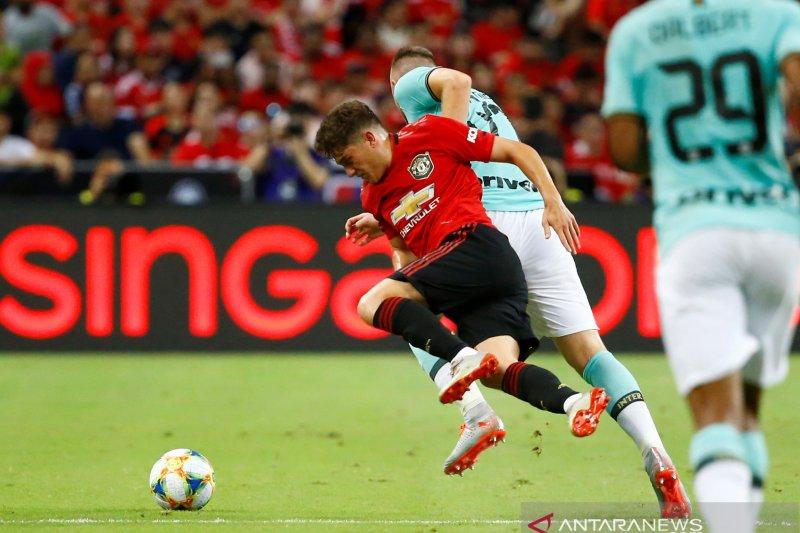 Manchester United mengalahkan Inter MIlan berkat gol tunggal Greenwood