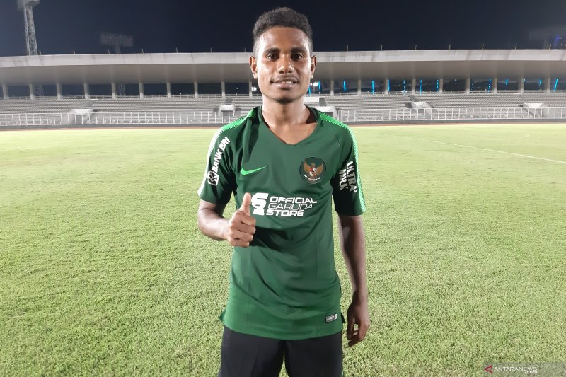 Krismon puji rekan timnas U-23 usai cetak gol di GBK