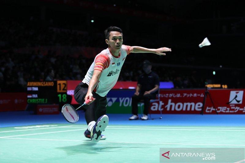 Tiga tunggal putra Indonesia melaju ke perempat final Japan Open 2019