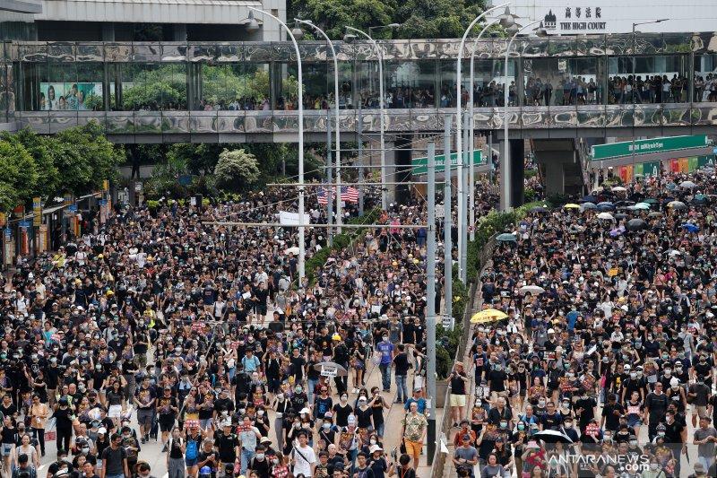 PBB minta kepolisian Hong Kong menahan diri hadapi para demonstran
