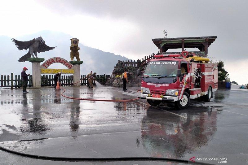 30 truk disiapkan angkut abu vulkanik Tangkuban Perahu