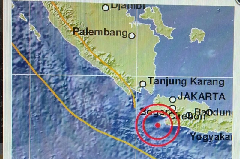 Gempa Magnitudo 5 2 Guncang Banten Dan Jakarta Tak Berpotensi Tsunami Antara News