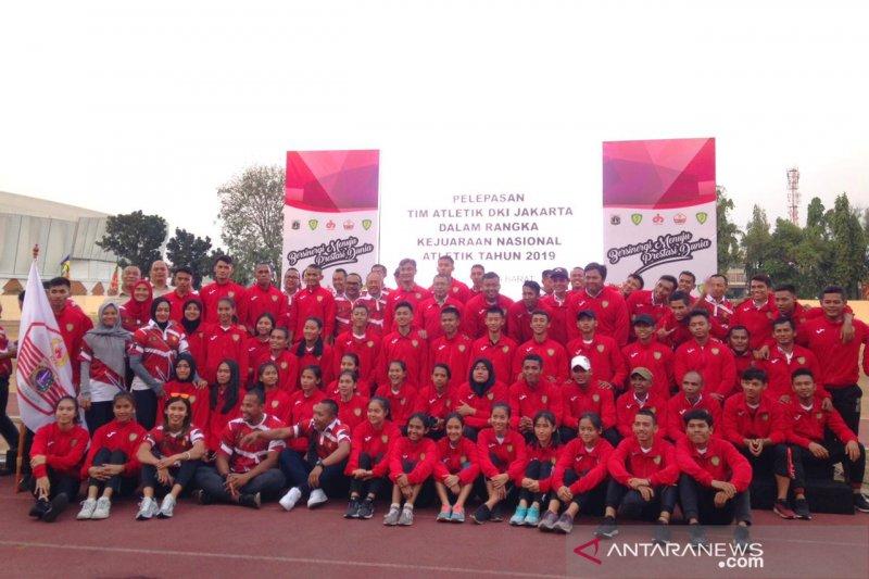 Kadispora lepas tim DKI Jakarta ikut Kejurnas Atletik 2019