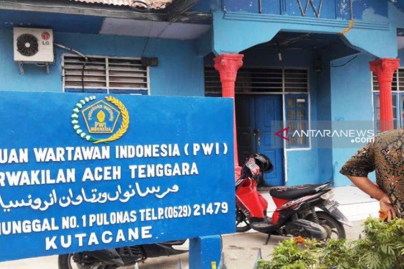 Kantor PWI Aceh Tenggara diduga berusaha dibakar, ditemukan bekas jilatan api
