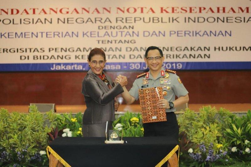 Menteri Susi: KKP perlu dukungan Polri berantas kejahatan transnasional terorganisasi