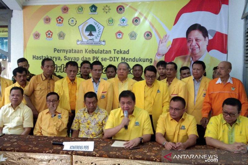 Hastakarya, Sayap dan PK se-DIY mendukung Airlangga Caketum Golkar
