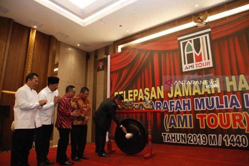 Gubernur Sumsel lepas jamaah calon haji khusus