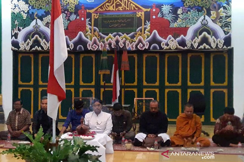 Pemuka lintas agama di Yogyakarta doa bersama untuk KH Maimoen Zubair
