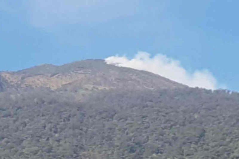 Masih ada lima pendaki belum turun dari Gunung Ciremai yang terbakar