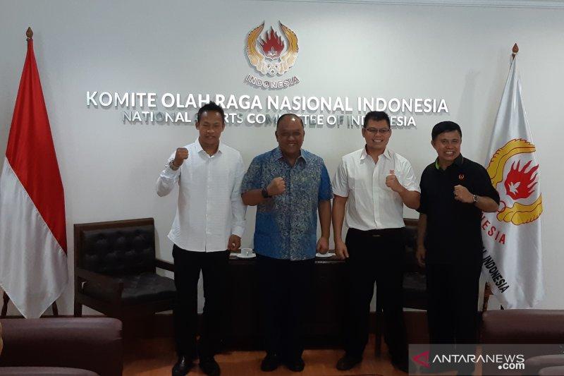 Tiga juara dunia tinju asal Indonesia bertemu khusus dengan Ketum KONI Pusat