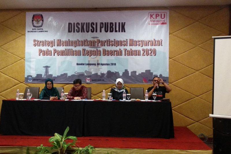KPU Bandarlampung gelar diskusi publik  untuk tingkatkan partisipasi pemilih