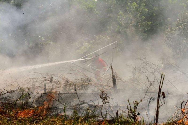 112 titik panas indikasi Karhutla tersebar di Sumatera