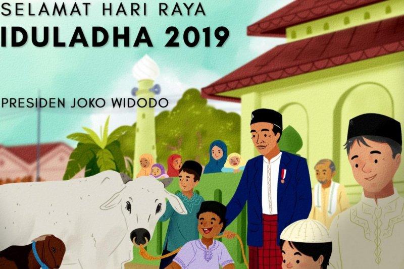 Presiden Jokowi Sampaikan Ucapan Selamat Idul Adha 1440 H Antara News