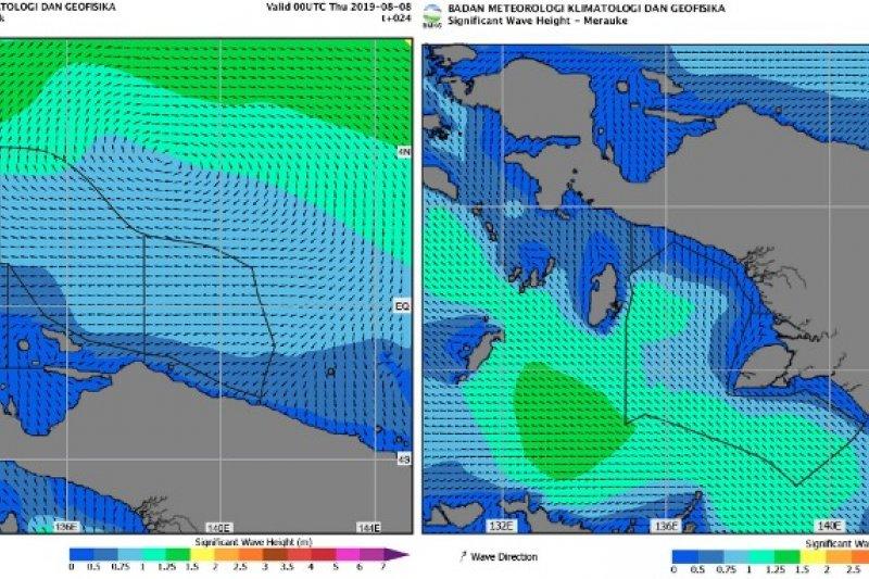 BBMKG : Angin kencang berpotensi landa Perairan Papua-Papua Barat
