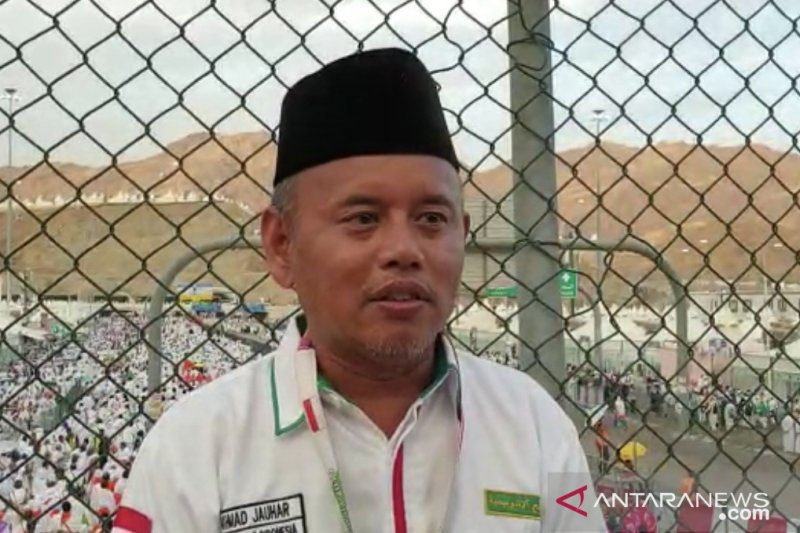 Sejumlah tenda jamaah haji Indonesia di Mina kemasukan air