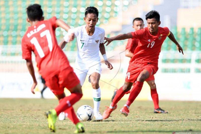 INDONESIA JUARA GRUP A USAI BERMAIN IMBANG 1-1 LAWAN MYANMAR