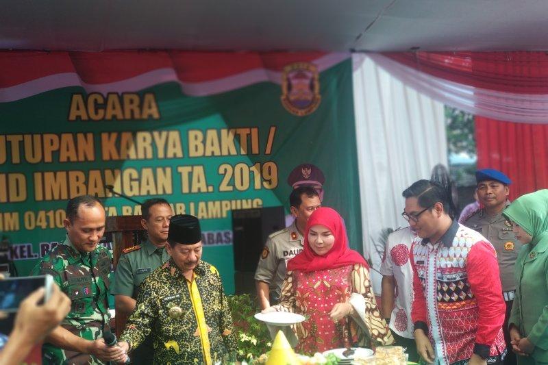 Wali Kota Bandarlampung minta warga jaga hasil karya bakti TNI