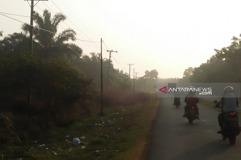 Kabut asap selimuti sebagian wilayah Mukomuko, cuma pagi hari