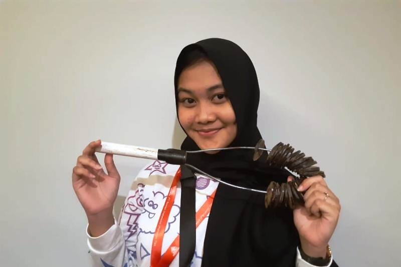 Peserta SMN Sulsel belajar alat musik tradisional khas Papua