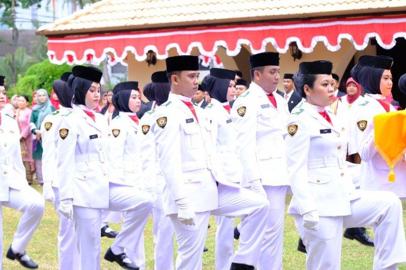 Pekerja migran menjadi paskibra di Johor Bahru Malaysia