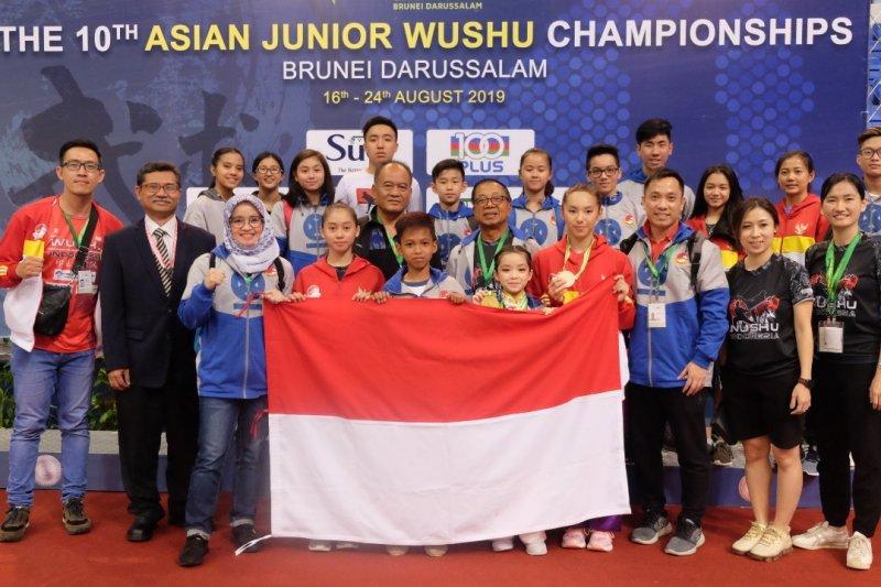 Atlet cilik Indonesia raih emas di kejuaraan wushu junior Asia