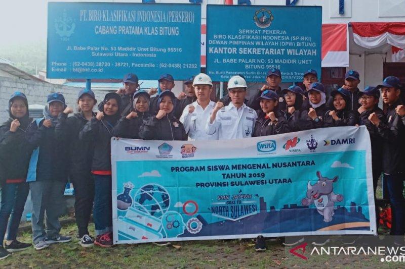 Peserta Siswa Mengenal Nusantara diajak lebih mengenal BKI di Bitung
