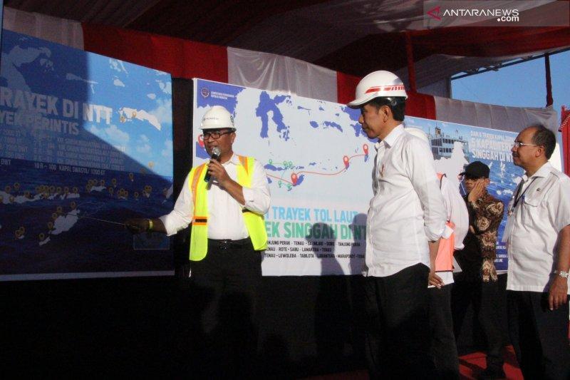 Presiden Jokowi berkunjung ke Pelabuhan Tenau Kupang