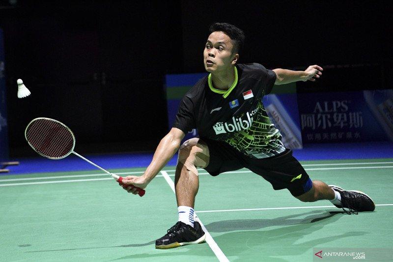 Ginting maju ke semi final China Open 2019