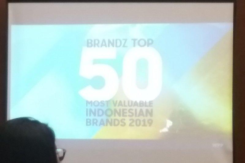 Perusahaan riset BrandZ mengumumkan 50 merek paling berharga di Indonesia